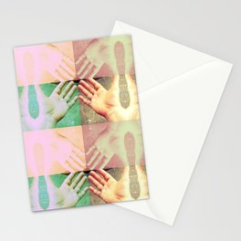 HAND FAN GRID Stationery Cards