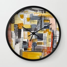 Autumn Rituals Abstract Painting Wall Clock