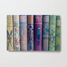 Lovely Antique Book Spines Metal Print