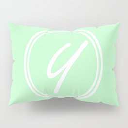 Monogram - Letter Y on Mint Green Background Pillow Sham