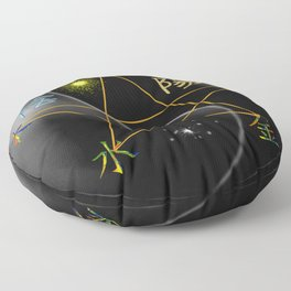 Feng Shui five elements Black Floor Pillow