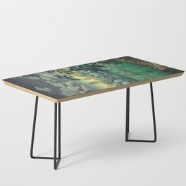 Tsuchiya Koitsu - Ueno Shinobazu Pond - Japanese Vintage Woodblock Painting Coffee Table