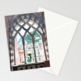 Window in Amalfi Coast Stationery Cards