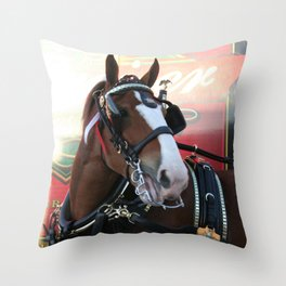 BUDWEISER Clydesdale Throw Pillow