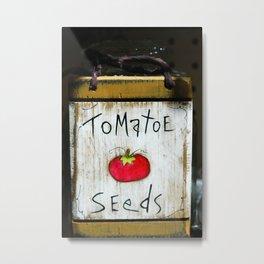 Tomatoe Seeds Metal Print