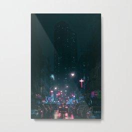 Night Life New York City (Color) Metal Print