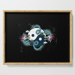 Dragon Yin yang Serving Tray