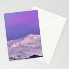 Snowy mountains. Tosal del Cartujo and Tajos de la Virgen at sunset. 3237 meters Stationery Cards