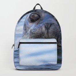 Watercolor Harbor Seal 18, Reykjarfjörður Iceland Backpack