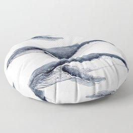 Humpback whale (Megaptera novaeangliae) Floor Pillow