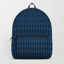 Blue Halftone Style Gradient Pattern Backpack