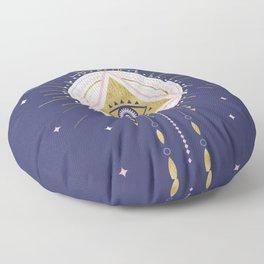 Magical night tarot illustration no5 Floor Pillow