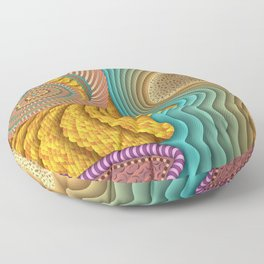 She Sells Seashells Floor Pillow