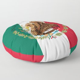 Flag of Mexico & Coat of Arms augmented scale Floor Pillow