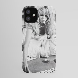 Brigitte Bardot Playing Cards, Black and White Photograph iPhone Case