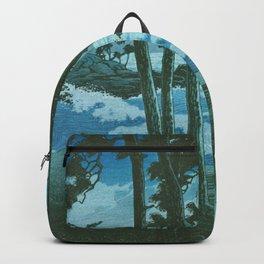 Kawase Hasui - Travel Souvenir Third Collection, Izumo, Hinomisaki - Digital Remastered Edition Backpack