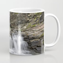 Photo USA Wrangell-St. Elias, state of Alaska Crag Nature Waterfalls Parks stone Rock Cliff park Stones Coffee Mug