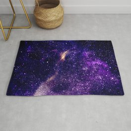 Ultra violet purple abstract galaxy Rug