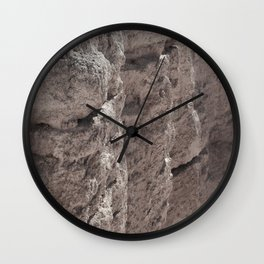Erosion On The Cliff Wall Clock