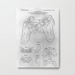 PS Game controller Metal Print