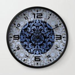 Classic Blue Swirls 13 Wall Clock