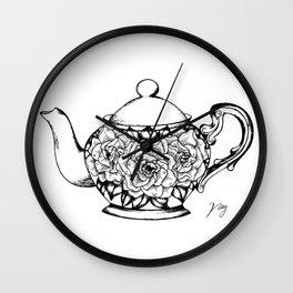 Floral Tea Wall Clock