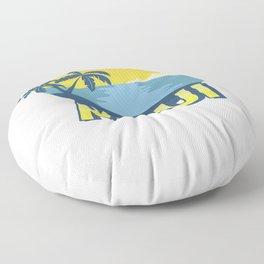 Vintage Maui Aloha Island Surfing 70s Retro Floor Pillow