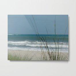 Sea oats at the beach Metal Print