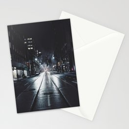 Night street reflect Stationery Cards