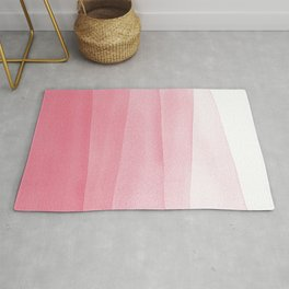 Pink Ombré Dip Dyed Watercolor Rug