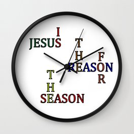 Jesus is the Reason for the Season Wall Clock
