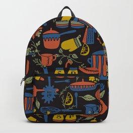 Kitchen Utensils on Black Backpack