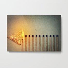 burning matches fire Metal Print