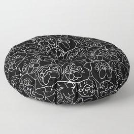 Black Pugs Floor Pillow