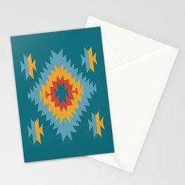 Santa Fe Southwestern Native Navajo Indian Tribal Geometric Pattern Stationery Cards