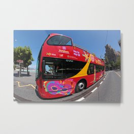 city tour bus Metal Print