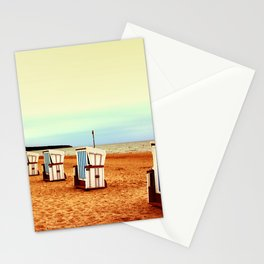 Insel Fehmarn und einsame Strandkörbe Stationery Cards
