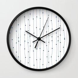 Dashing restless lines Wall Clock