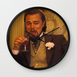 Leonardo Dicaprio laughing meme Wall Clock