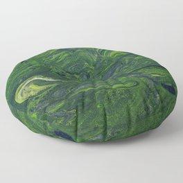 Swirling Jade Floor Pillow