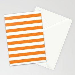 Horizontal Orange Stripes Stationery Cards