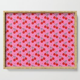 Cherry Bomb Pattern Serving Tray