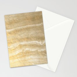 Marble motion - gold Stationery Cards