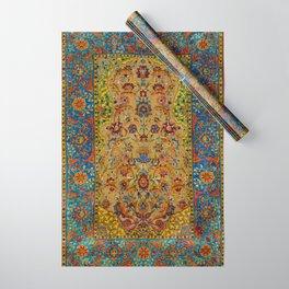 Hereke Vintage Persian Silk Rug Print Wrapping Paper