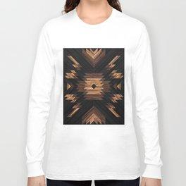 Urban Tribal Pattern No.7 - Aztec - Wood Langarmshirt