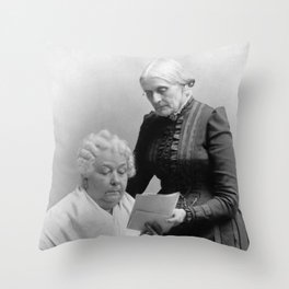 Susan B. Anthony and Elizabeth Cady Stanton  Throw Pillow