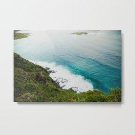 Makapuʻu Waves Metal Print