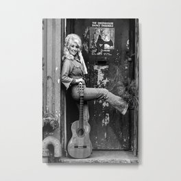 Dolly parton with guitar Metal Print