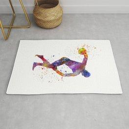 discobolus in watercolor Rug