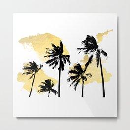 Palm Trees in Moorea Metal Print